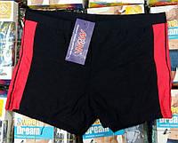 Плавки шорты купальные мужские M&M, 48-58 размер, чёрно-красные, 633