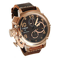 Мужские  часы U-BOAT Itallo Fontana, коричневые с золотом