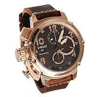 Мужские  часы U-BOAT Itallo Fontana, коричневые с золотом, фото 1