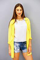 Модный кардиган желтого цвета из двунитки, фото 1