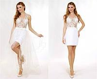 Свадебное платье-трансформер ручной работы P0620 (р.40-44)