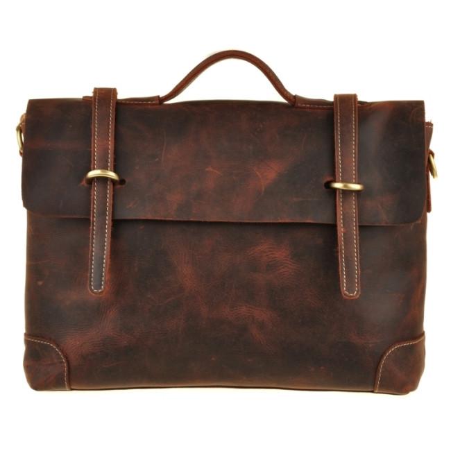 Кожаный портфель Bexhill Bx1033 коричневый