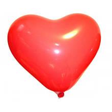 Воздушный шар сердце 26 см красный