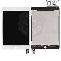 Дисплейный модуль (дисплей + сенсор) для iPad mini 4, белый, оригинал