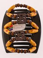 Гребень для густых волос African butterfly Dupla черная