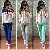 """Спортивный костюм женский """"Adidas Original Tri-color"""", двухнитка"""