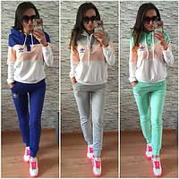 """Спортивный костюм женский """"Adidas Original Tri-color"""", двухнитка, фото 1"""