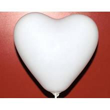 Воздушный шар сердце 26 см белый