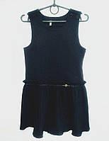 Нарядный школьный сарафан черного цвета