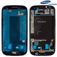 Рамка крепления дисплея для Samsung Galaxy S3 Duos i9300i, черный, оригинал