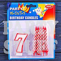 Набор свечей Цифра+10 свечей, 7