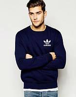 Свитшот мужской спортивный темно-синий Adidas Адидас