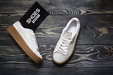 Женские кроссовки Rihanna x Puma Suede Creeper White 361005-06, Пума Риана Сьюд, фото 3