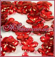 Бусины 22 мм - цвет красный(в упаковке 25 грамм)