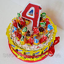 """Торт в детский сад из сока и конфет """"Барни"""" (для девочки), фото 3"""