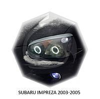 Реснички на фары Subaru IMPREZA 2003-2005 г.в. субару импреза