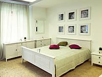 Спальня из массива сосны Боцен Dom, белый воск
