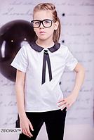 Шкільна блузка для дівчинки Zironka 3590-1 білий 152
