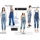 Жіночий джинсовий комбінезон - з чим носити