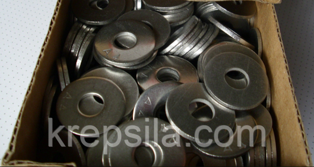 Увеличенные шайбы из нержавеющих сталей ГОСТ 6958-78, DIN 9021 | Фотографии принадлежат предприятию Крепсила