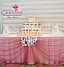 Свадебный Кенди бар (Candy Bar) в  розовом  цвете