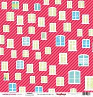 Бумага для скрапбукинга двустороняя 180 гр/м Зимние каникулы За окном