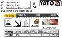 Набор полотно для электролобзика (дерево) l=100мм 8TPI 5шт YATO-3402