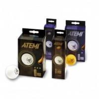 Шарики для настольного тенниса 3*** 6 штук белые ATEMI ATE-B3-6