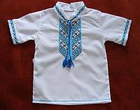 Вышиванка для мальчика. Нарядная, из рубашечной ткани., фото 1