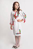 Платье для девочек с длинным вышитым рукавом