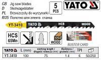 Набір полотно для електролобзика (дерево) 6TPI l=100мм 5шт YATO-3410
