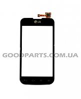 Сенсорный экран (тачскрин) для LG Optimus L5 E455 черный high copy