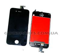 Дисплей с тачскрином и рамкой для iPhone 4s черный (Оригинал)