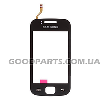 Сенсорный экран (тачскрин) для Samsung S5660 черный (Оригинал)