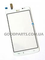 Сенсорный экран (тачскрин) для LG D380 Optimus L80 белый (Оригинал)