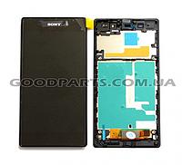 Дисплей с тачскрином и рамкой для Sony C6902 L39h Xperia Z1, C6903 Xperia Z1 (Оригинал)
