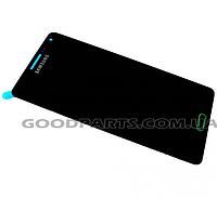 Дисплей с тачскрином для Samsung SM-A500H Galaxy A5 service (rev.0.1) черный (Оригинал)