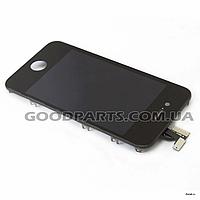 Дисплей с тачскрином и рамкой для iPhone 4 черный (Оригинал)