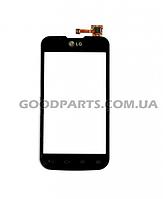 Сенсорный экран (тачскрин) для LG Optimus L5 E455 черный (Оригинал)