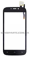 Сенсорный экран (тачскрин) для Qumo Quest 452, 453 черный (Оригинал)