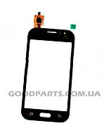 Сенсорный экран (тачскрин) для Samsung J110H, DS Galaxy J1 черный