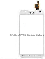 Сенсорный экран (тачскрин) для LG P715 Optimus L7 II белый (Оригинал)
