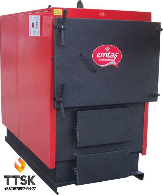 Твердотопливный промышленный котел Еmtas EK3G- 500 трехходовой (дрова,уголь)
