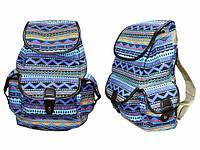 Рюкзак холщовый голубой Северный узор