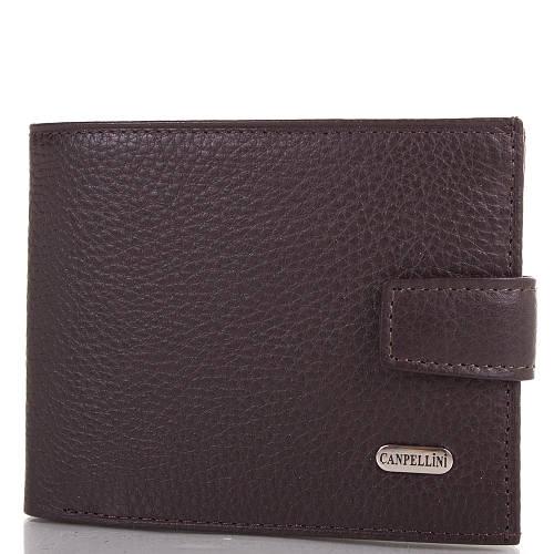 Мужской стильный кожаный кошелек CANPELLINI (КАНПЕЛЛИНИ) SHI1106-10FL Коричневый