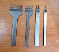 Пробойники для кожи 1+2+4+6 зубьев шаг 5мм пробойцы шаговые вилковые инструмент для кожи