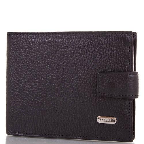 Мужской кожаный кошелек CANPELLINI (КАНПЕЛЛИНИ) SHI1106-2FL Черный