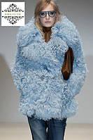 """Модный полушубок из меха тибетской ламы """"Валери"""", длина 80 см"""