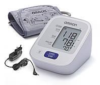 Тонометр OMRON M2 Basic с универсальной (для среднего и большого объема руки) манжетой 22-32 см и адаптером