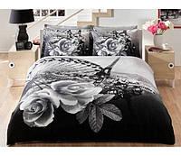 TAC евро комплект  постельного белья saten Delux  Galia gri